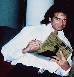 American magician David Copperfield signing hi...