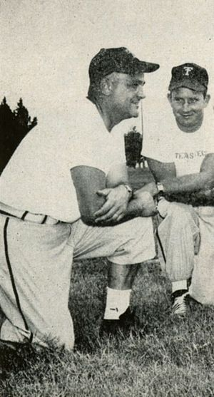 DeWitt Weaver - Weaver (left) in 1955