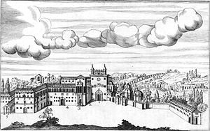 Lateran Palace - The Lateran during medieval times, from a 17th-century engraving by Giovanni Giustino Ciampini