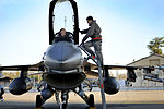 Defense.gov News Photo 120131-F-CJ989-907 - Capt. Jason Blodzinski a 77th Fighter Squadron pilot talks with his crew chief Senior Airman Frank Brown also with the 77th Fighter Squadron.jpg