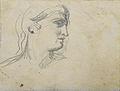 Dehodencq A. - Pencil - Etude de tête de profil - 9x7cm.jpg