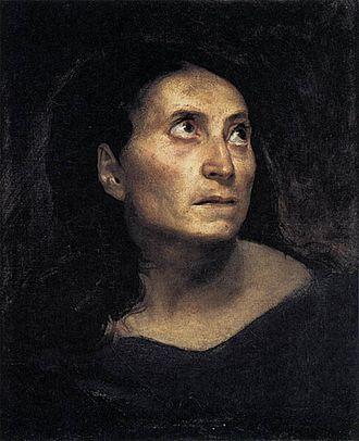 Head of a Woman (Delacroix) - Head of a Woman