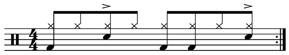 Delayed backbeat
