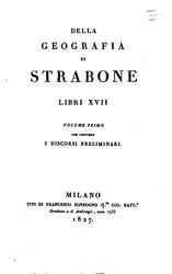 Strabone: Della geografia di Strabone libri 17 volgarizzati da Francesco Ambrosoli