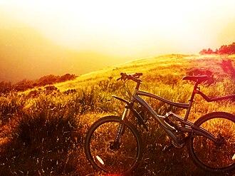 Marin Bikes - A Marin bike atop Bald Mountain (California).