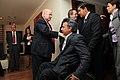 Desayuno de Trabajo del Sr. Canciller Ricardo Patiño con el Sr. Vicepresidente del Ecuador Lenin Moreno y José Miguel Insulza, secretario general de la OEA. (7171240552).jpg