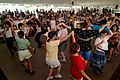 Description- Visitors try Scottish ceilidh dancing at the 2003 Smithsonian Folklife Festival on the National Mall. (2548929276).jpg