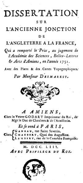 File:Desmarest - Dissertation sur l'ancienne jonction de l'Angleterre à la France, 1753.djvu