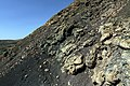 Detail of spatter particles forming flanks of cone Caldera de los Cuervos on Lanzarote, June 2013 (1).jpg