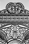 detail van het hek -