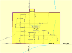 Detailed map of Dwight, Kansas