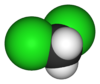 Spacefill model of deuterated dichloromethane