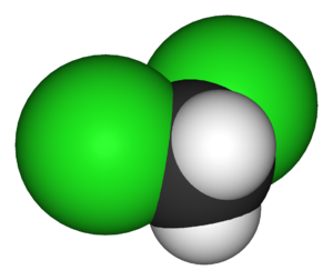 Deuterated dichloromethane - Image: Dichloromethane 3D vd W