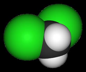 Dichloromethane - Image: Dichloromethane 3D vd W