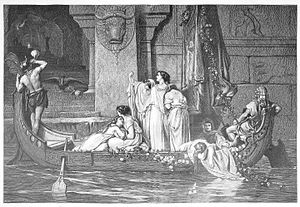 Auguste Gendron - Victims to the Minotaur, print after a painting by Gendron