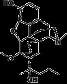 Kemia strukturo de Dihydroetorphine.