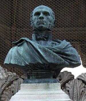 Henry Darcy - Darcy's bust in the Jardin Darcy, Dijon