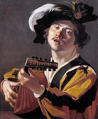 Dirck van Baburen - The lute player, 1622.