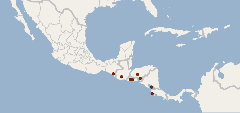 Distribution of Rhogeessa bickhami (cropped)
