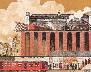 District Railway Underground railway in London