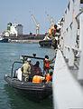Djiboutian marines conduct a ship boarding scenario during exercise Cutlass Express 2013 at the Port of Djibouti in Djibouti, Djibouti, Nov. 7, 2013 131107-F-NJ596-017.jpg