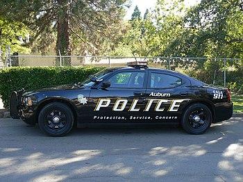 The Auburn Police's Dodge Charger police car. ...