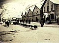 Dogsled team on Front Street, Dawson, Yukon Territory, ca 1898 (MEED 56).jpg