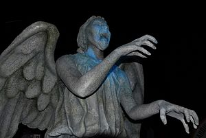 Blink (Doctor Who) - Weeping Angel, on display at a Doctor Who exhibition