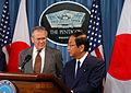 Donald Rumsfeld and Yoshinori Ono 20051029.jpg