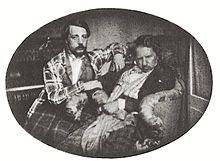 Donizetti mit seinem Neffen Andrea im Jahre 1847 (Quelle: Wikimedia)