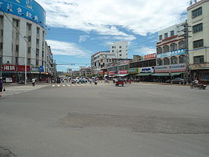 Dingcheng, Hainan - Street view of downtown Dingcheng
