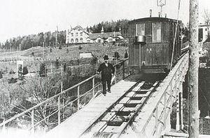 Funicular Rigiblick - The line in 1901