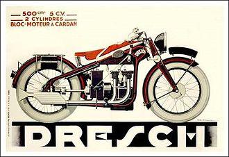 Dresch - Image: Dresch 500cc Motorcycle 1935