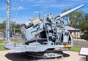 The Mark 37 Model 6 5-inch dual purpose gun on...