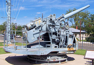 Dual-purpose gun Class of naval artillery for engaging both air and surface targets