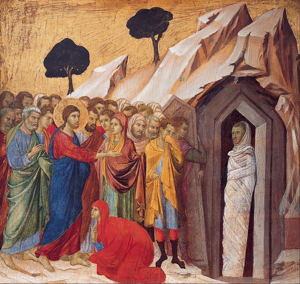 Duccio di Buoninsegna - The Raising of Lazarus - Google Art Project