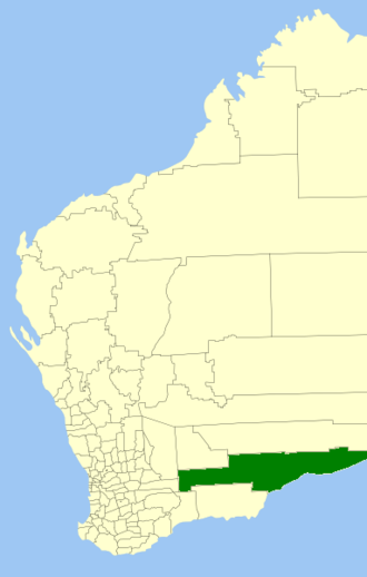 Shire of Dundas - Location in Western Australia