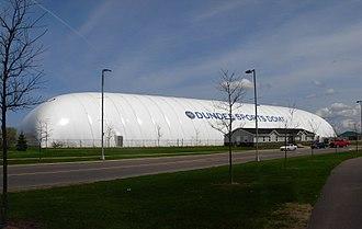 Moncton Sports Dome - The exterior of the Moncton SportsDome