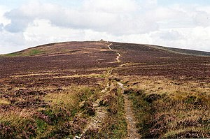 Dunkery Hill - Dunkery Beacon seen on the ascent up the western slopes