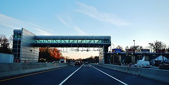 Garden State Parkway - Southbound at the Pascack Valley toll plaza