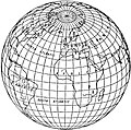 EB1911 - Map Projections- Fig. 12.—Twilight Projection. Clarke's Perspective Projection for a Spherical Radius of 108°.jpg
