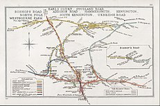 A 1911 map of the WLL and junctions