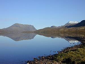 English: Early morning on Lochan Fada Fine, co...