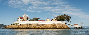 East Brother Island Light - Image: East Brother Light (panoramic view)
