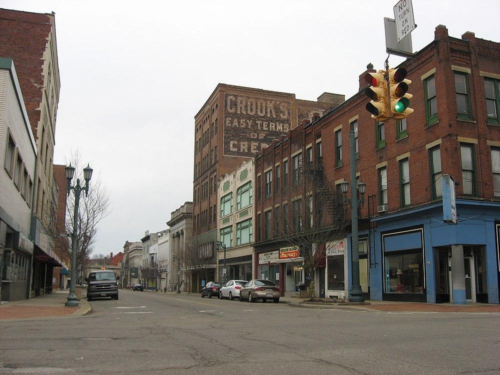 The population density of East Liverpool in Ohio is 882.89 people per square kilometer (2284.69 / sq mi)