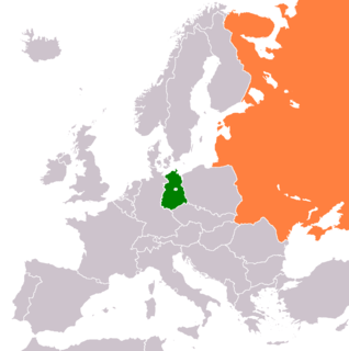 Diplomatic relations between East Germany and the Union of Soviet Socialist Republics