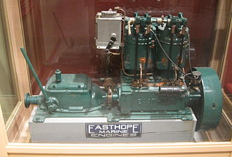 Straight-twin engine - Easthope marine engine