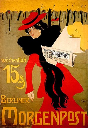 Advertising for the newspaper Berliner Morgenp...