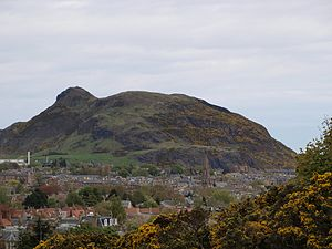 Geology of Scotland - Arthur's Seat in Edinburgh, the eroded remains of a volcano active during the Carboniferous period
