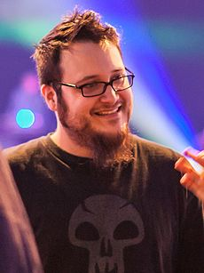 Edmund McMillen no Game Developers Choice Awards 2012.